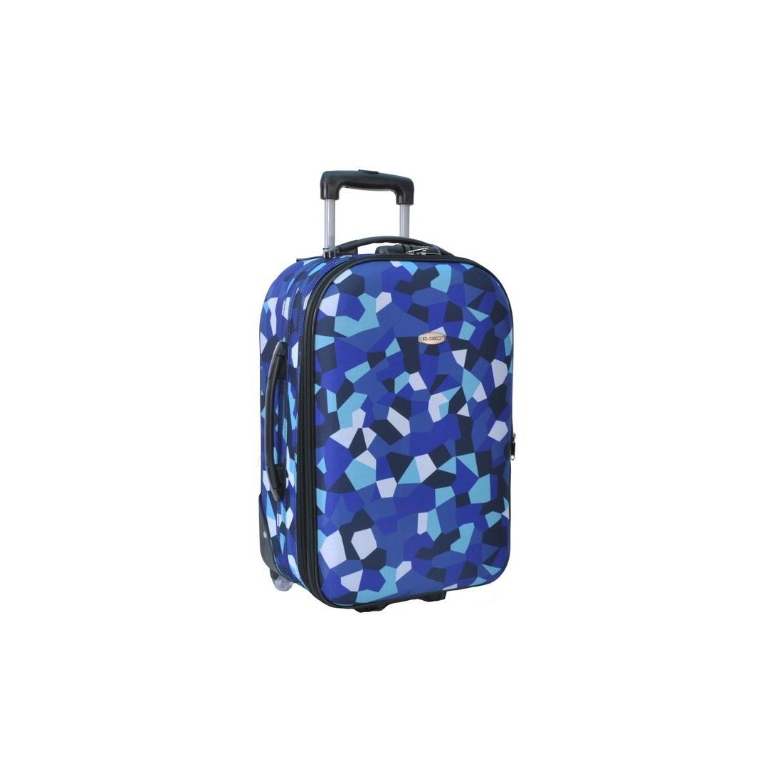 Walizka mała niebieska w figury - plecak-tornister.pl