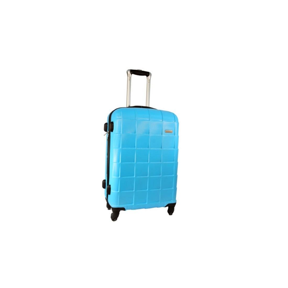 2863da88cf865 Mała, superlekka walizka na czterech kółkach. Wykonnana z twardego odpornego  na zarysowania tworzywa ABS. Posiada jedną dużą komorę, wewnętrzną kieszeń  na ...