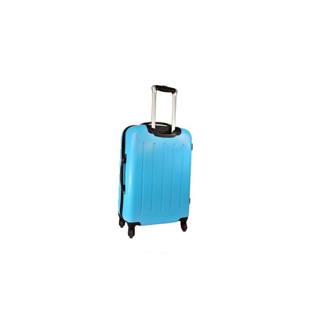 Walizka mała niebieska ABS - plecak-tornister.pl