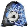 Worek szkolny z piłką niebieski