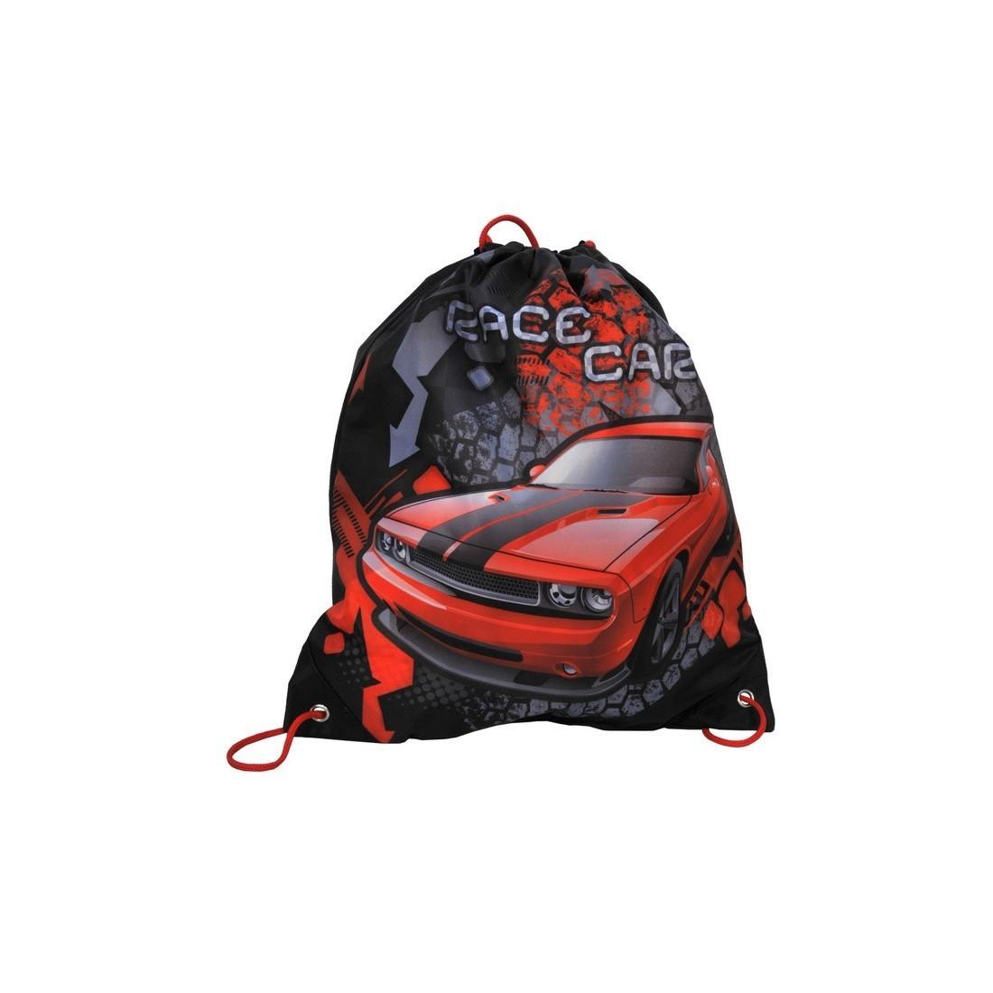Worek na obuwie czerwony z autem Challenger - plecak-tornister.pl