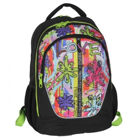Plecak młodzieżowy Dream Big Love w kwiaty