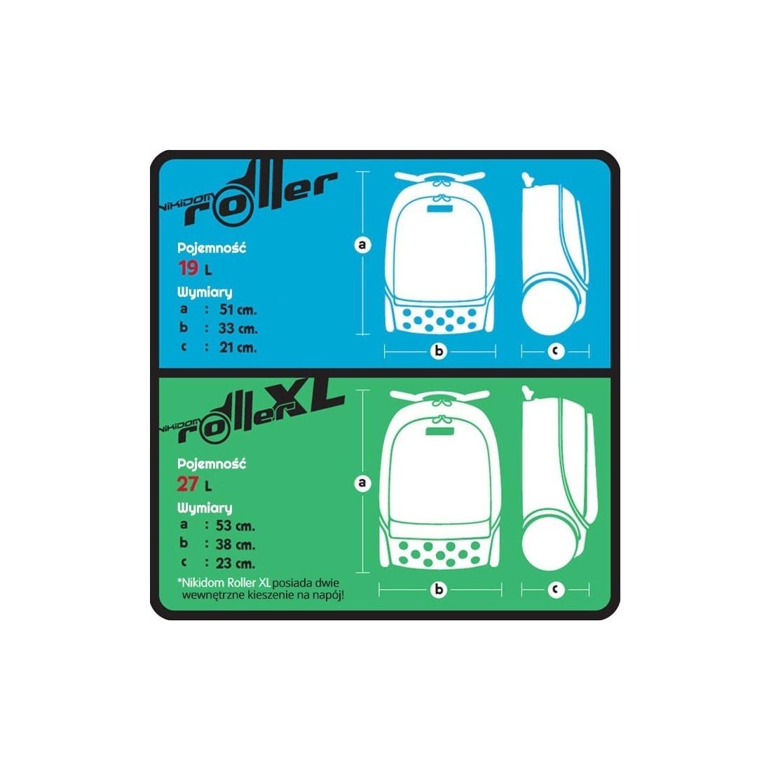 Plecak na kołkach bez szelek Roller XL Blackout dla chłopaka - plecak-tornister.pl