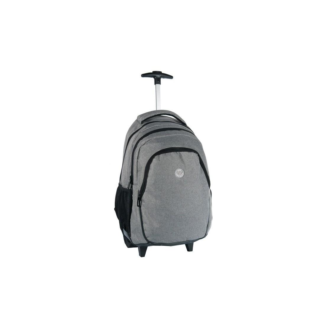 Plecak na kółkach młodzieżowy szary denim - plecak-tornister.pl