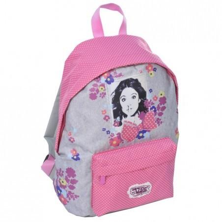 Plecak dziecięcy Violetta szaro różowy