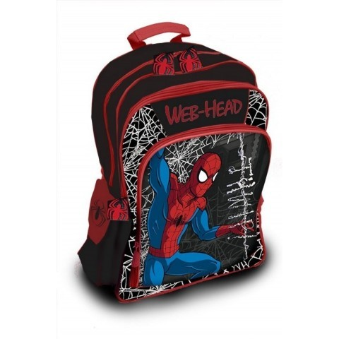 Plecak szkolny Spider-man - czarny z pajęczyną