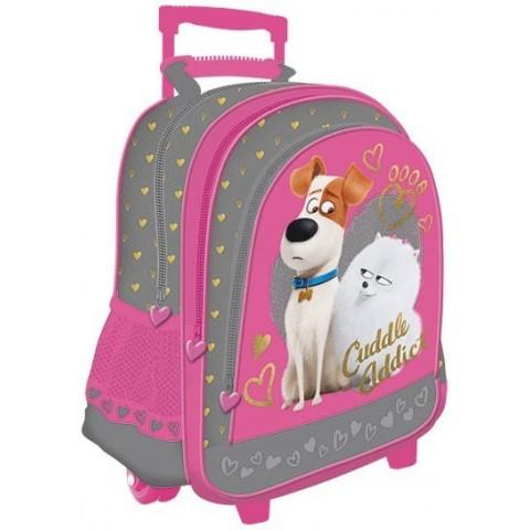 Plecak na kółkach Sekretne życie zwierzaków domowych Pets różowy dla dziewczynki
