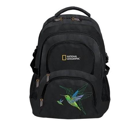 Plecak młodzieżowy NATIONAL GEOGRAPHIC - czarny z kolibrem