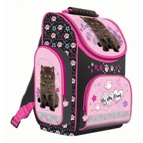 TORNISTER - MY LITTLE FRIEND z czarnym kotkiem dla dziewczynki