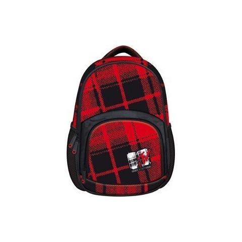 Plecak młodzieżowy BP-23 MTV Plaid czerwony w kratkę