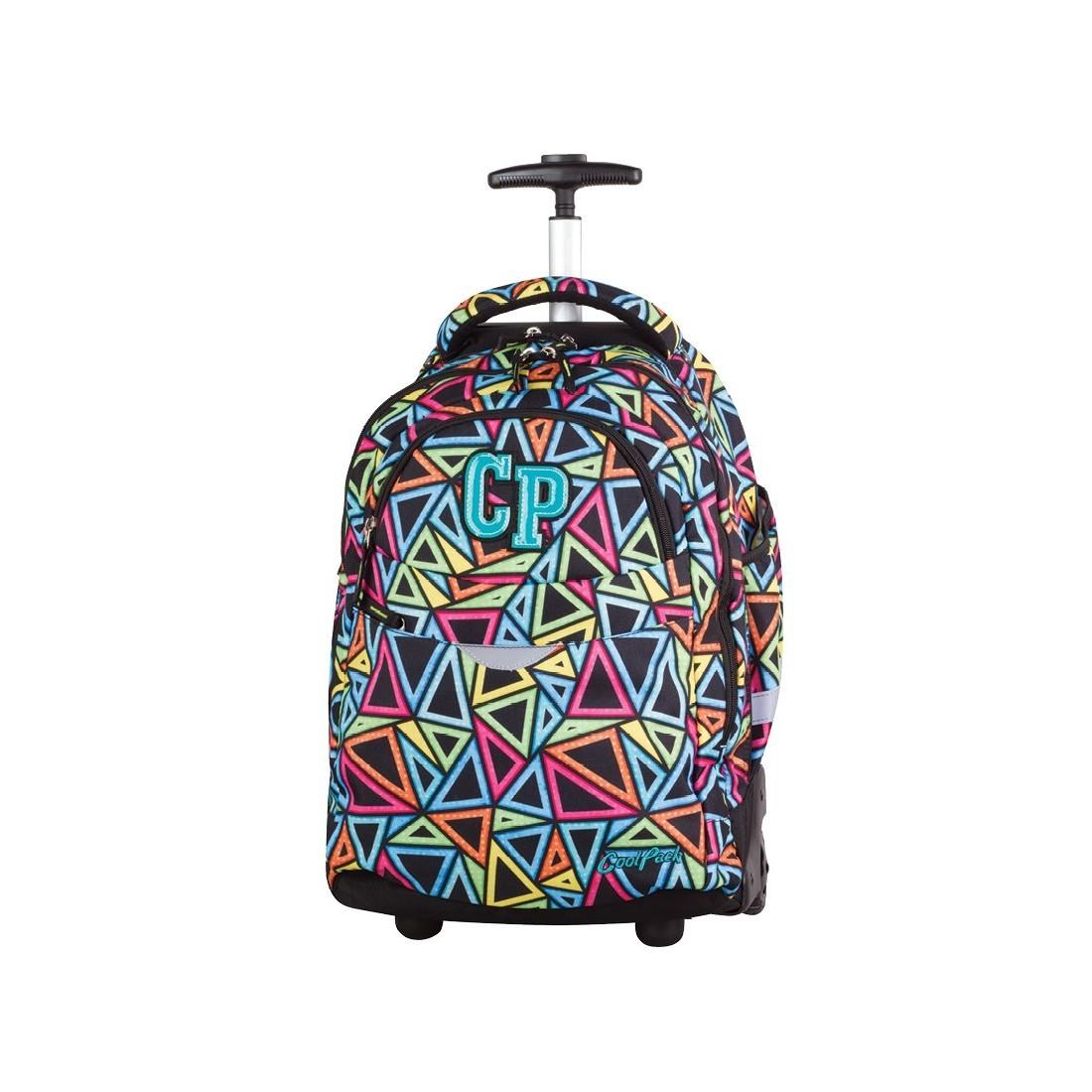 93ce4d05a6ab5 CoolPack CP plecak do szkoły na kółkach z kolorowymi trójkątami - super  model dla dziewczynki