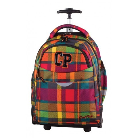 Plecak na kółkach CoolPack CP pasetelowy w kratkę dla dziewczynki lub chłopca