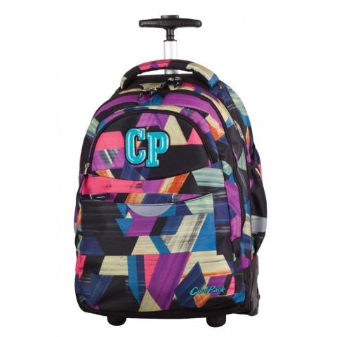 Plecak na kółkach CoolPack CP RAPID COLOR STROKES 673 kolorowy w łatki dla dziewczynki
