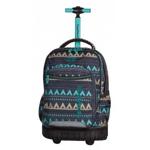 Plecak na kółkach CoolPack CP szary etniczny młodzieżowy