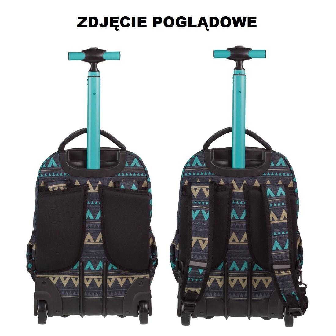 841154395d5f0 ... Plecak na kółkach CoolPack CP SWIFT PLUMES 964 w kolorowe piórka dla  dziewczynki