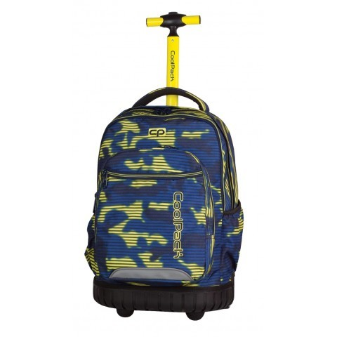 Plecak na kółkach dla chłopca CP Coolpack niebiesko-żółty Swift