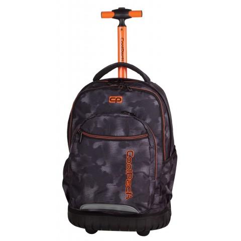 Plecak na kółkach CoolPack CP szary z pomarańczową rączką Swift dla chłopca
