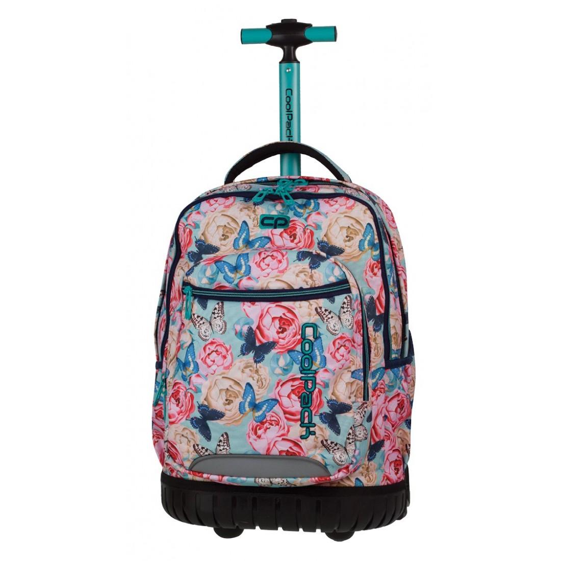 44810aa1d4364 Plecak na kółkach CoolPack Swift w motyle dla dziewczynki - plecak ...