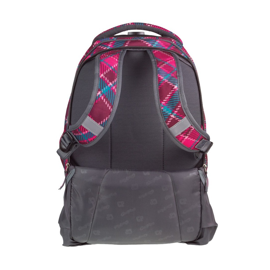 36fecc0f46317 ... Plecak na kółkach CoolPack CP wiśniowy w kratkę TARGET CRANBERRY CHECK  dla dziewczynki
