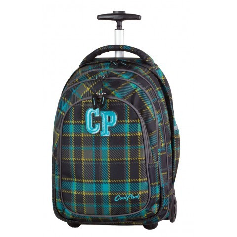 Plecak na kółkach CoolPack CP TARGET Marengo ciemna kratka dla chłopca