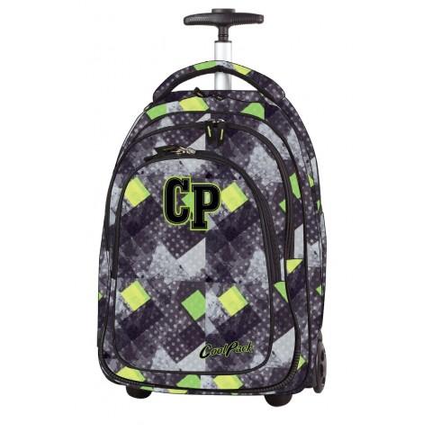 Plecak na kółkach CoolPack CP TARGET GRUNGE GREY w kratkę zieleń dla chłopca