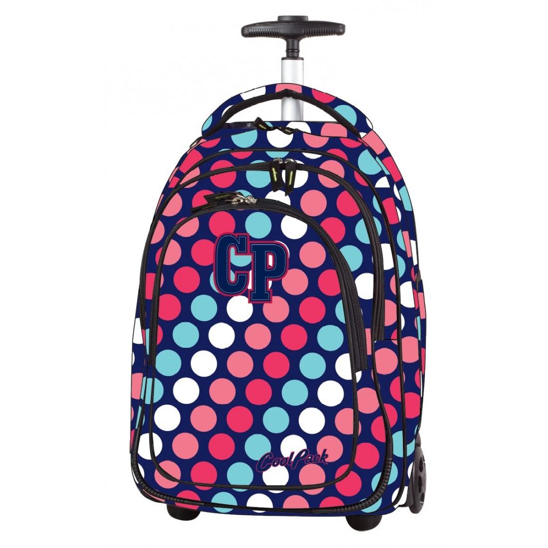 3f931247a385a Plecak na kółkach CoolPack CP TARGET DOTS ulubiony w kropki dla dziewczynki
