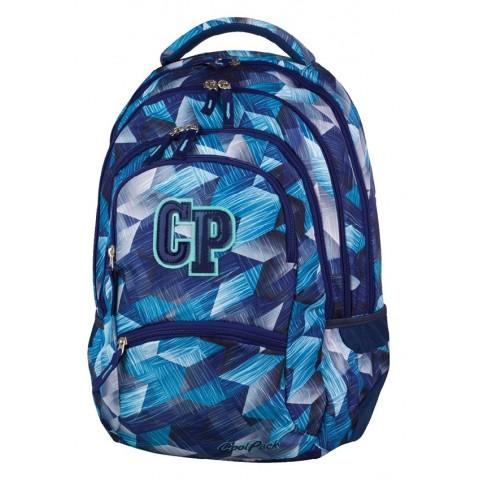Plecak młodzieżowy CoolPack CP COLLEGE FROZEN BLUE 637 niebieskie kryształy - 5 przegród