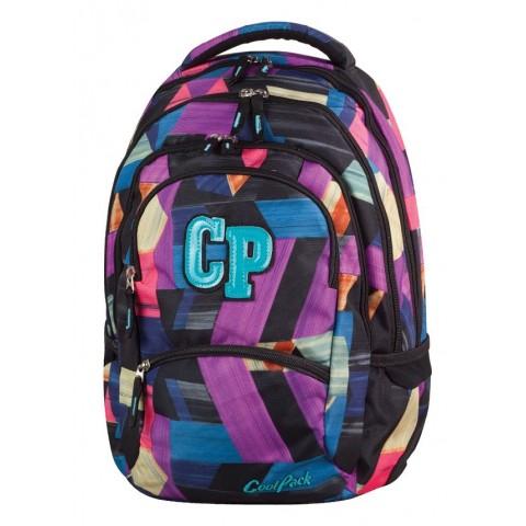 Plecak młodzieżowy CoolPack CP COLLEGE COLOR STROKES 672 kolorowe łatki - 5 przegród