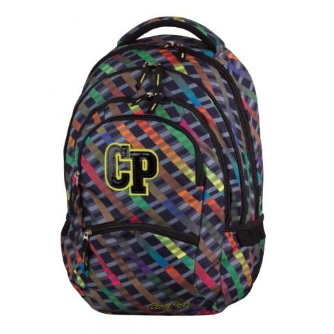 Plecak młodzieżowy CoolPack CP COLLEGE RAINBOW STRIPES 658 kolorowe paski - 5 przegród