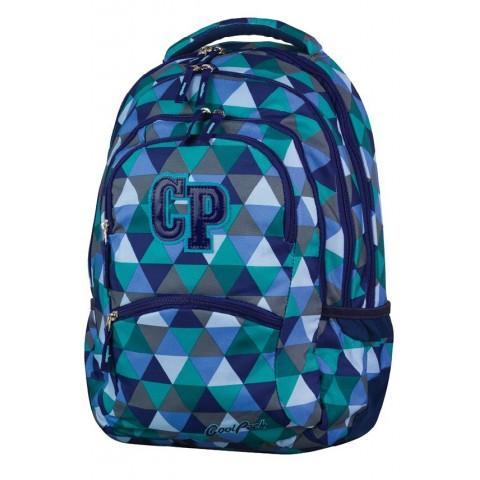 Plecak młodzieżowy CoolPack CP COLLEGE PRISM 679 niebieski w trójkąty - 5 przegród