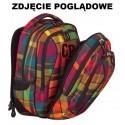 Plecak młodzieżowy CoolPack CP COMBO SCARLET 667 różowo-fioletowy w kratkę - 2w1