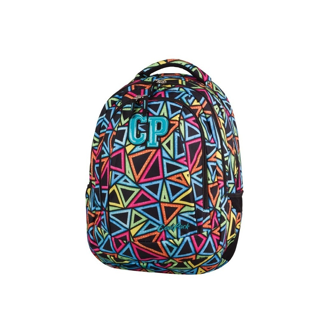 Plecak szkolny CoolPack CP 2w1 Combo Color Triangles dla dziewczyny - plecak-tornister.pl