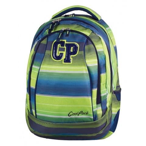 Plecak młodzieżowy CoolPack CP COMBO MULTI STRIPES 646 zielono-niebieski w paski - 2w1