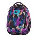 Plecak młodzieżowy CoolPack CP COMBO COLOR STROKES 674 kolorowe łatki - 2w1