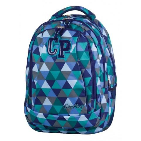 Plecak młodzieżowy CoolPack CP COMBO PRISM 681 niebieski w trójkąty - 2w1