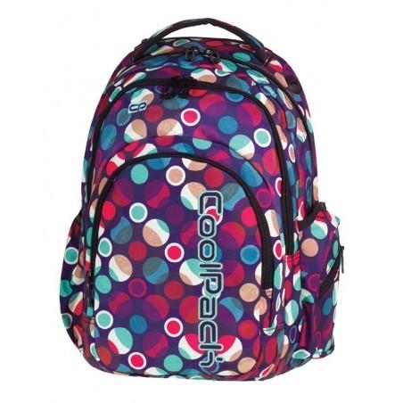Plecak młodzieżowy CoolPack CP SPARK II MOSAIC DOTS 718 pastelowe kropki