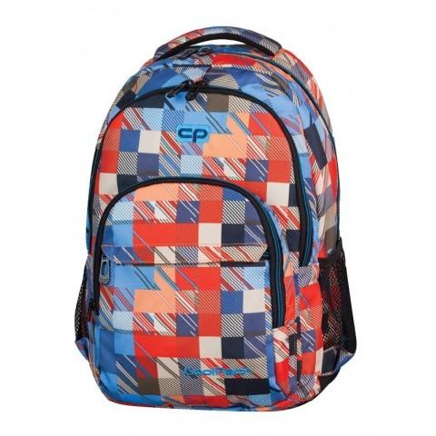 Plecak młodzieżowy CoolPack CP lekki czerwono-niebieski w kratkę BASIC MOTION CHECK 891 lekki czerwono-niebieski w kratkę