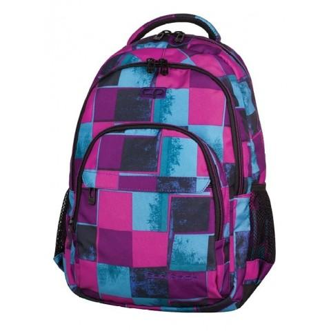 Plecak młodzieżowy CoolPack CP BASIC PLAID 905 lekki różowo-niebieskie kwadraty