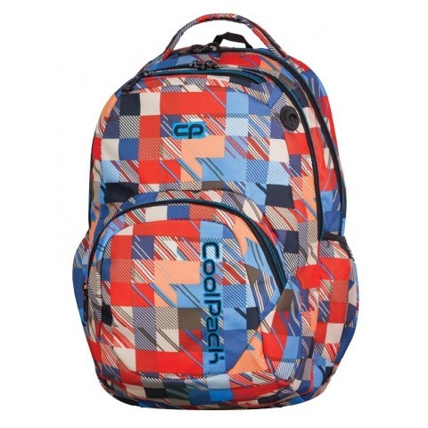 c7f3fe5b64f22 Plecak młodzieżowy CoolPack CP SMASH MOTION CHECK 890 czerwono-niebieski w  kratkę