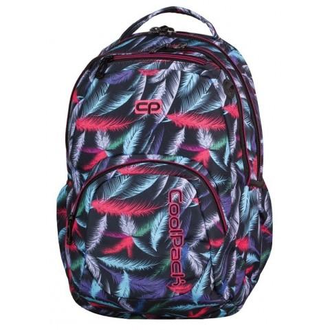 Plecak młodzieżowy CoolPack CP SMASH PLUMES 962 w kolorowe piórka