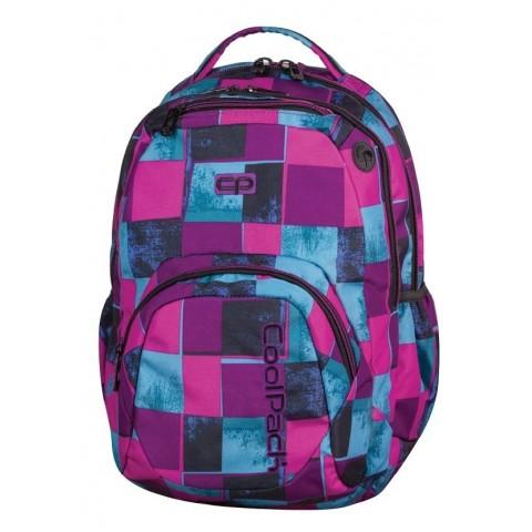 Plecak młodzieżowy CoolPack CP SMASH PLAID 904 różowo-niebieskie kwadraty