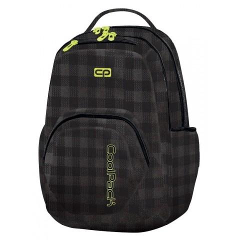 Plecak młodzieżowy CoolPack CP SMASH BLACK&YELLOW 1036 czarny w kratkę z żółtymi wstawkami