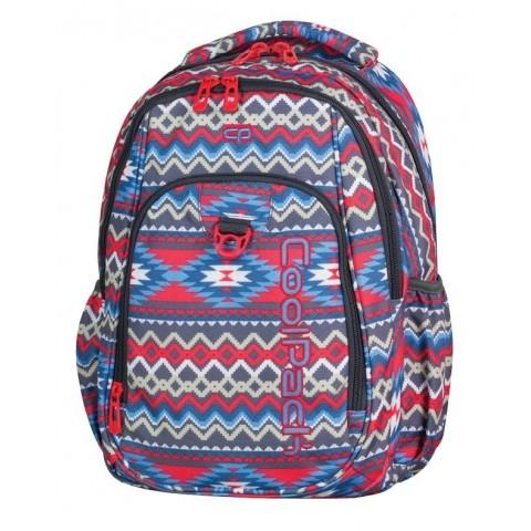 87c4bd09fd24c Plecak młodzieżowy CoolPack CP STRIKE BOHO BEIGE 803 czerwono-niebieski boho