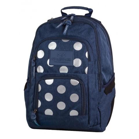 Plecak młodzieżowy CoolPack CP UNIT 704 SILVER DOTS BLUE granatowy w kropki