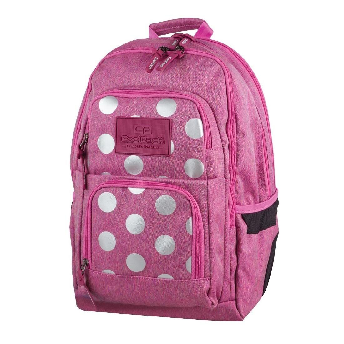 e310e757122f7 Plecak młodzieżowy CoolPack 704 Unit Silver Dots Pink dla dziewczyny ...