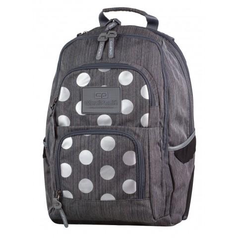 Plecak młodzieżowy CoolPack CP UNIT SILVER DOTS GREY 702 szary w kropki