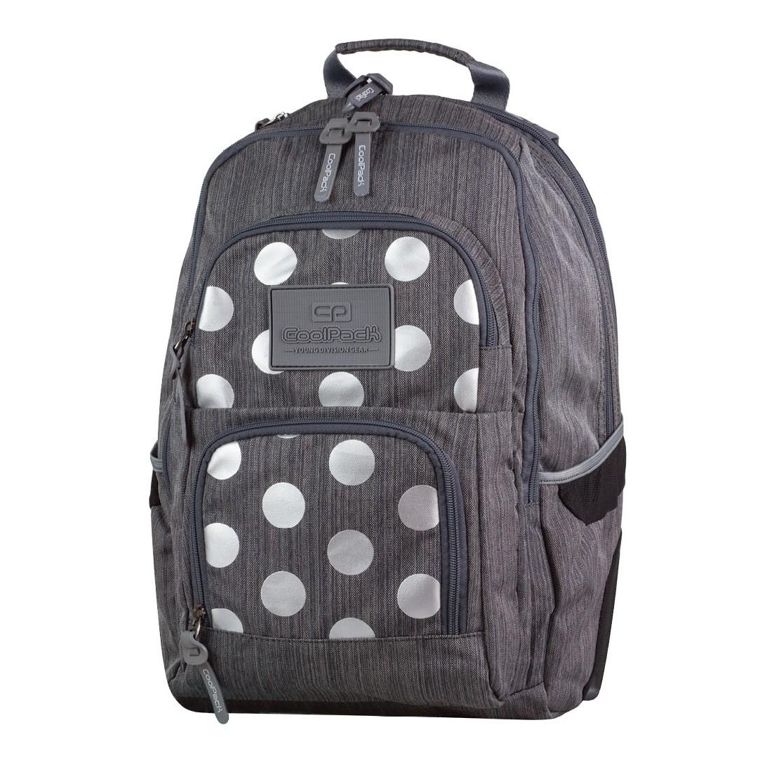 b86debbbc4790 Plecak młodzieżowy CoolPack 702 Unit Silver Dots Grey dla dziewczyny ...