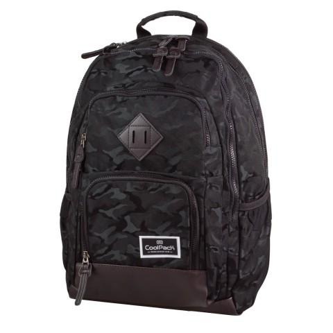 Plecak młodzieżowy CoolPack CP UNIT JACQUARD ARMY BLACK 714 czarny moro