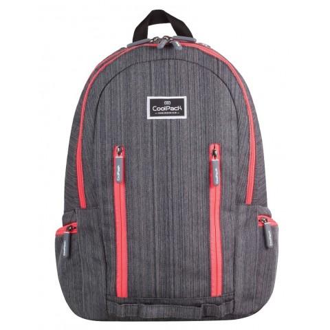 Plecak młodzieżowy CoolPack CP IMPACT GREY RAW 708 grafitowy jeans