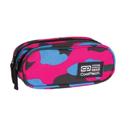 Saszetka podwójna CoolPack CLEVER CAMOUFLAGE CRIMSON CP 872